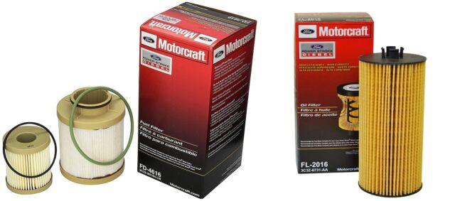 03 07 ford motorcraft 6 0l powerstroke diesel oil fuel filter kit fd4616 fl2016 Gas Fuel Filter