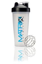 MATRIX NUTRITION FLIP TOP SHAKER BOTTLE WITH WIRE BALL MIXER 700ML BLACK