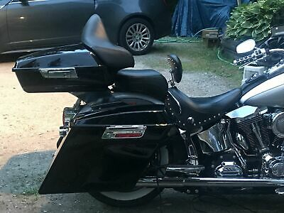 Painted Black King Tour Pak Pack Trunk Backrest Pad For Harley Touring 2014-2019