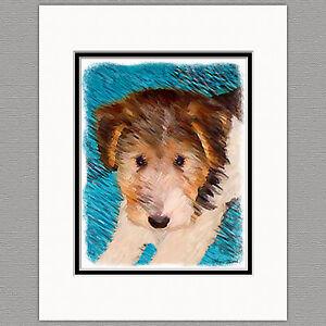 Wire-Fox-Terrier-Dog-Original-Art-Print-8x10-Matted-to-11x14
