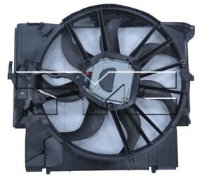 TYC 623430 Dual Rad/&Cond Fan Assy for BMW 335i Turbo 2007-2011 Models
