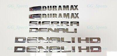 5PCS NEW Red Gloss Black GMC Sierra Denali Duramax 2500HD 3500HD Badges Emblem