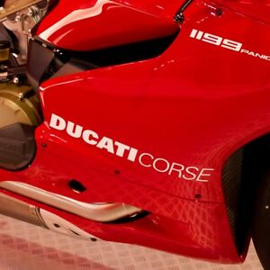 Ducati-Corse-Fairing-Stickers-x2-Panigale-899-959-1199-1299-Vinyl-Any-Colour