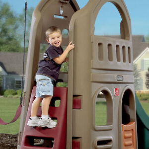Swing Set Climber Slide Outdoor Toys Structures Backyard Structure