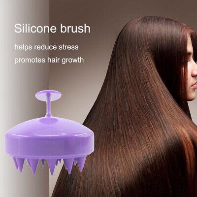 Silicone Massage Scalp Shampoo Brush Washing Massager Shower Head Hair CombNEW