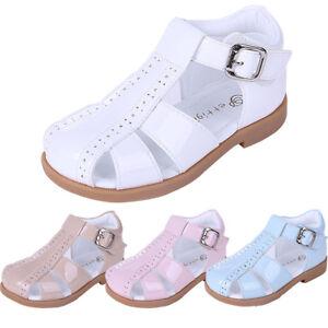New Boys Girls Summer Sandals Little Gentleman Toddler Kids Wedding Party Shoes