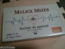 Malice Mizer - Societe de parente~新たなる血族との響宴 VHS - Japan Video Kozi Moi dix Mois