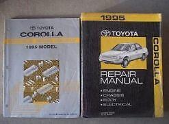 1995 TOYOTA COROLLA Service Repair Shop Manual FACTORY Set ...