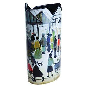 John-Beswick-Silhouette-D-039-Art-Lowry-Market-Scene-Vase