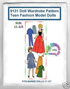 "Glamor Girl Fits BARBIE Holiday Sun Valley doll WARDROBE Pattern 11-1//2/"" VINTAGE"