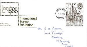 9 Avril 1980 London 1980 Stamp Exhibition Bureau De Poste Premier Jour Cover Ide-afficher Le Titre D'origine Blanc Pur Et Translucide
