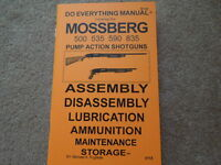 Mossberg Model 500 535 590 835 Shotgun Manual 25 Pg.