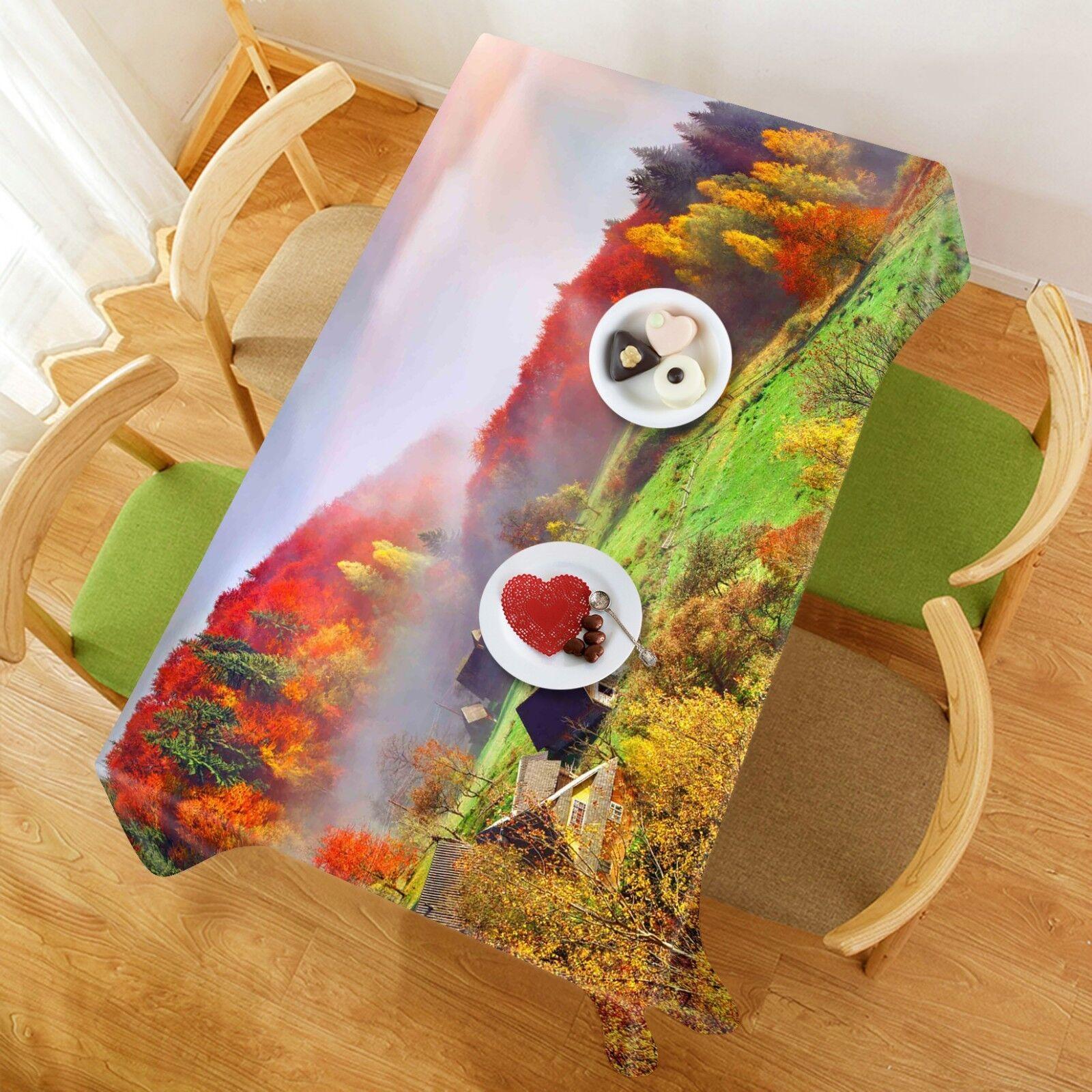 3D Mountain Fog 069 Tablecloth Table Cover Cloth Birthday Party Event AJ Lemon