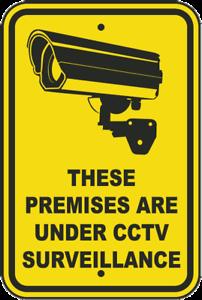 Warning CCTV In Operation Surveillance Monitoring Sticker Self Adhesive