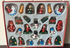 Gisela Graham Box of 24 Mini Wooden Cute Christmas Tree Decorations 3 x 2 cm