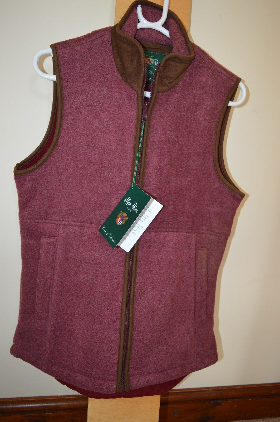 Alan Paine Ladies Aylsham Fleece Waistcoat Wine