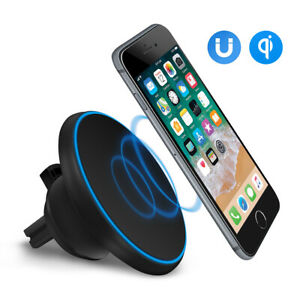 Qi-Wireless-Car-Charger-Magnetic-Air-Vent-Mount-Holder-For-Iphone-XR-Samsung-S10