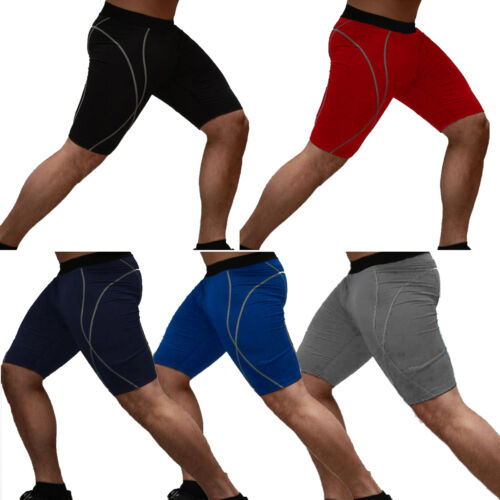 Herren Tight Kurz Funktionshose Thermohose Unterziehhose Gym Shorts Radlerhose