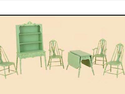 Dollhouse Miniature Cottage Kitchen Set - 6 pcs. JADE GREEN - New! BESPAQ