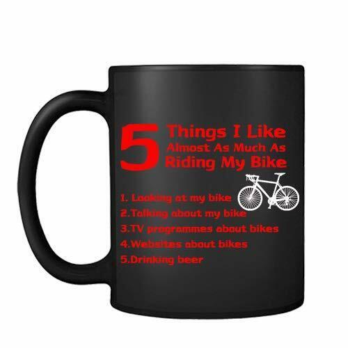 5 Things I Like Almost As Much As Riding My Bike 11oz Ceramic Mug Coffee Tea Novelty Biker Cyclist Gift