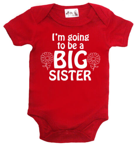 "Big Sister Bodysuit /""I/'m Going to be Big Sister/"" Baby Grow Girl Vest Gift"