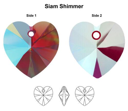 Neue Farben Original SWAROVSKI 6228 XILION Herz Anhänger Kristallen