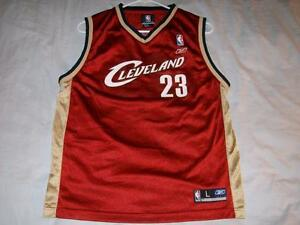 wholesale dealer df1f6 68cfa Details about Lebron James 23 Cleveland Cavaliers Reebok Maroon Jersey Boys  Large 14-16 used