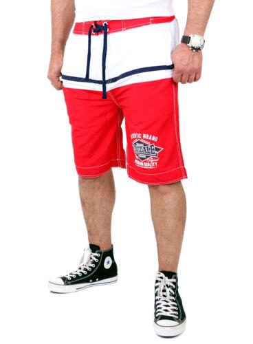 LONSDALE Pantaloncini Uomo Crediton balneazione doposcuola Beach Bermuda ld-114815 ROSSO-BIANCO