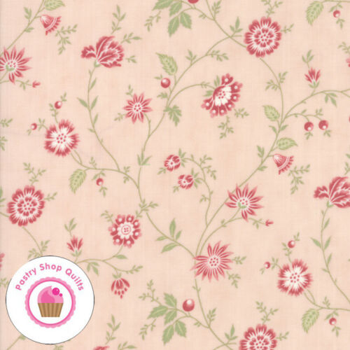Moda PORCELAIN 44193 15 Pink Blossom Floral 3 SISTERS Quilt Fabric