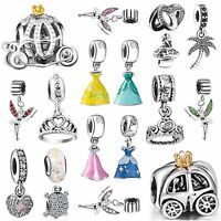 European Silver Charms Bead Fit Fashion Genuine 925 sterling Bracelets Necklace