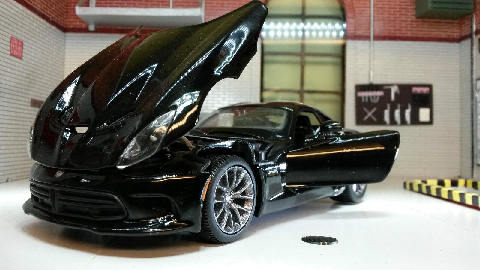 G 1 24 Echelle Noir Chrysler Dodge Viper SRT 2013 GTS Maisto Voiture Miniature