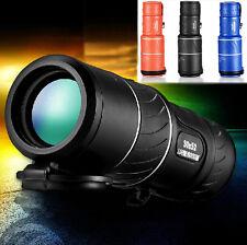 KingOpT 30X52 Dual Focus Zoom Green Optic Lens Armoring Monocular Telescope UK
