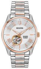 Bulova Men's Automatic Open Heart Window Rose Gold Accents 42mm Watch 98A213