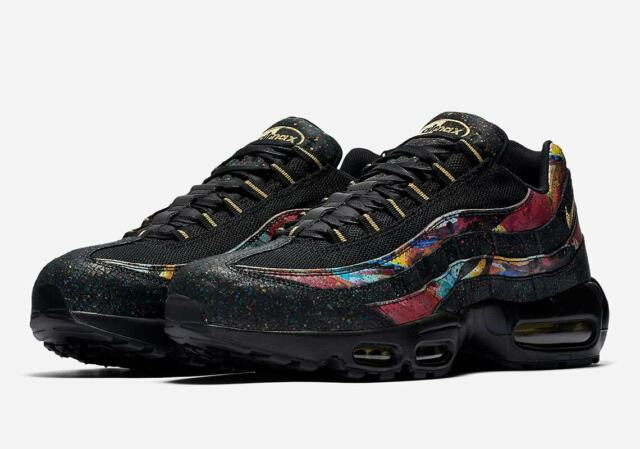 Nike Air Max 95 SZ 8 Black Metallic Gold AT6142 001