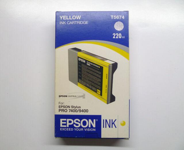 Original Epson T5674 gelb Stylus Pro 7400 9400 ------------------ OVP 06/2008