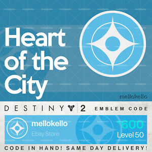 Details about Destiny 2 Heart of the City emblem IN HAND!! SAME DAY  DELIVERY!!!