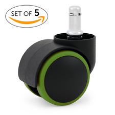 """KATU BAG503-38 Office Chair Caster Wheels Rubber PU 2"""" Modern Design Ideal for H"""