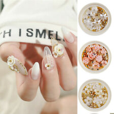 Jewelry Gems Mix Nail Art Decoration Glitter Nail Art 3D Rose Flower Rhinestones