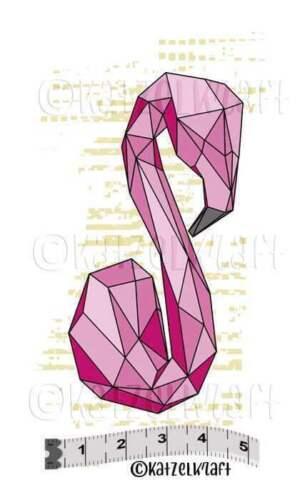"Stempel /""Flamingo origami/"" Katzelkraft unmont Stempelgummi"