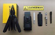 Leatherman SURGE Black+Leather Sheath+Bit kit+Extender+REMOVABLE POCKET CLIP