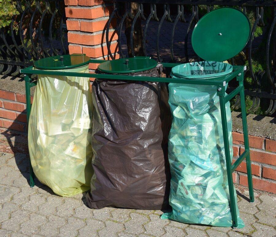 Müllsackständer  Abfalleimer Mülleimer Mülltrennung Recycling Müllsackhalter P3