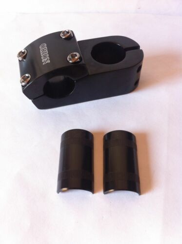 Black BMX Bike Stem Alloy 4-Bolts Works with 22.2mm /& 25.4mm Handlebars Bicycle