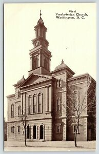 Washington-DC-First-Presbyterian-Church-Triple-Arches-c1910-Postcard