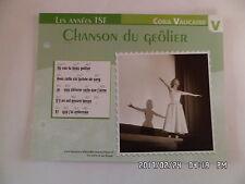 CARTE FICHE PLAISIR DE CHANTER CORA VAUCAIRE CHANSON DU GEOLIER