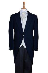 Tuta da uomo cerimonia notte colore nuziale Tails blu Ascot di da TWnTx4F