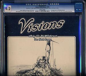 CGC-9-2-Visions-1-Fanzine-Magazine-1st-Flaming-Carrot-Double-Signed-Bob-Burden