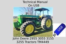 John Deere 2955 3055 3155 3255 Tractors Technical Manual Tm4449 On Usb