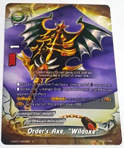 """Buddyfight 1x S-BT01//0044EN Order/'s Axe U /""""Wildaxe/"""""""