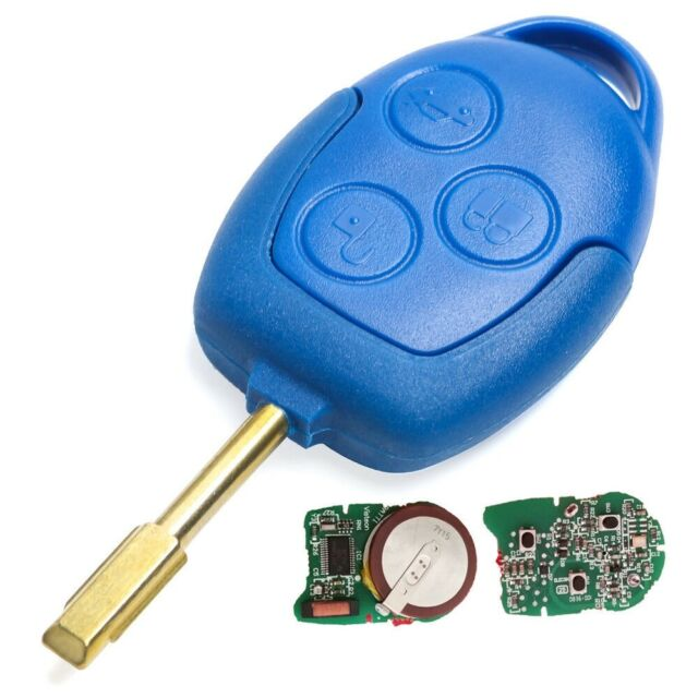 NEW FORD TRANSIT 3 BUTTON FULL BLUE REMOTE KEY FOB  MK7, 2006 - 2014 433mhz id63