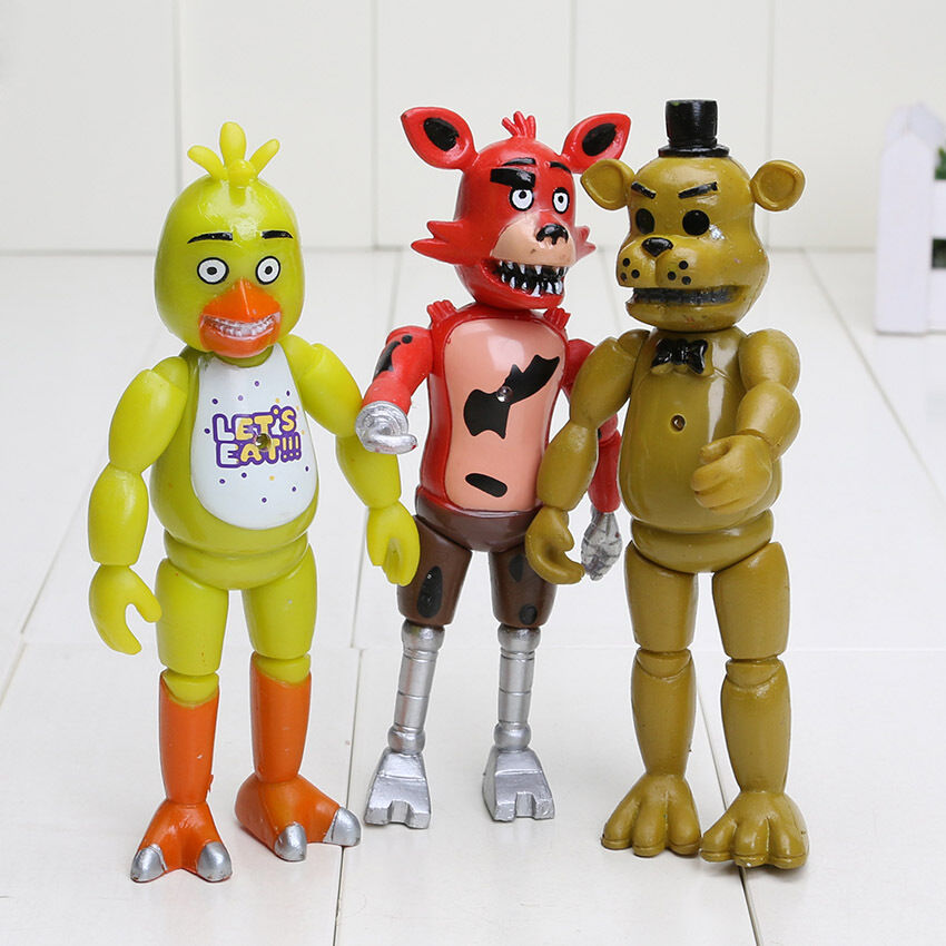 5 Nights At Freddy Toys : Pcs set of fnaf five nights at freddy s quot action figures